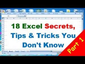 18 Excel Tips and Tricks, Excel Secrets you don't know
