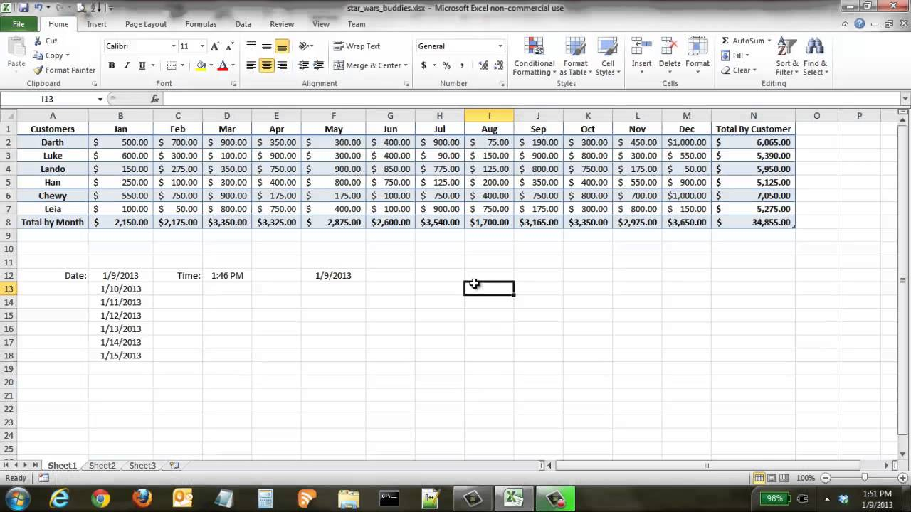 Excel Tips, Tricks and Shortcuts