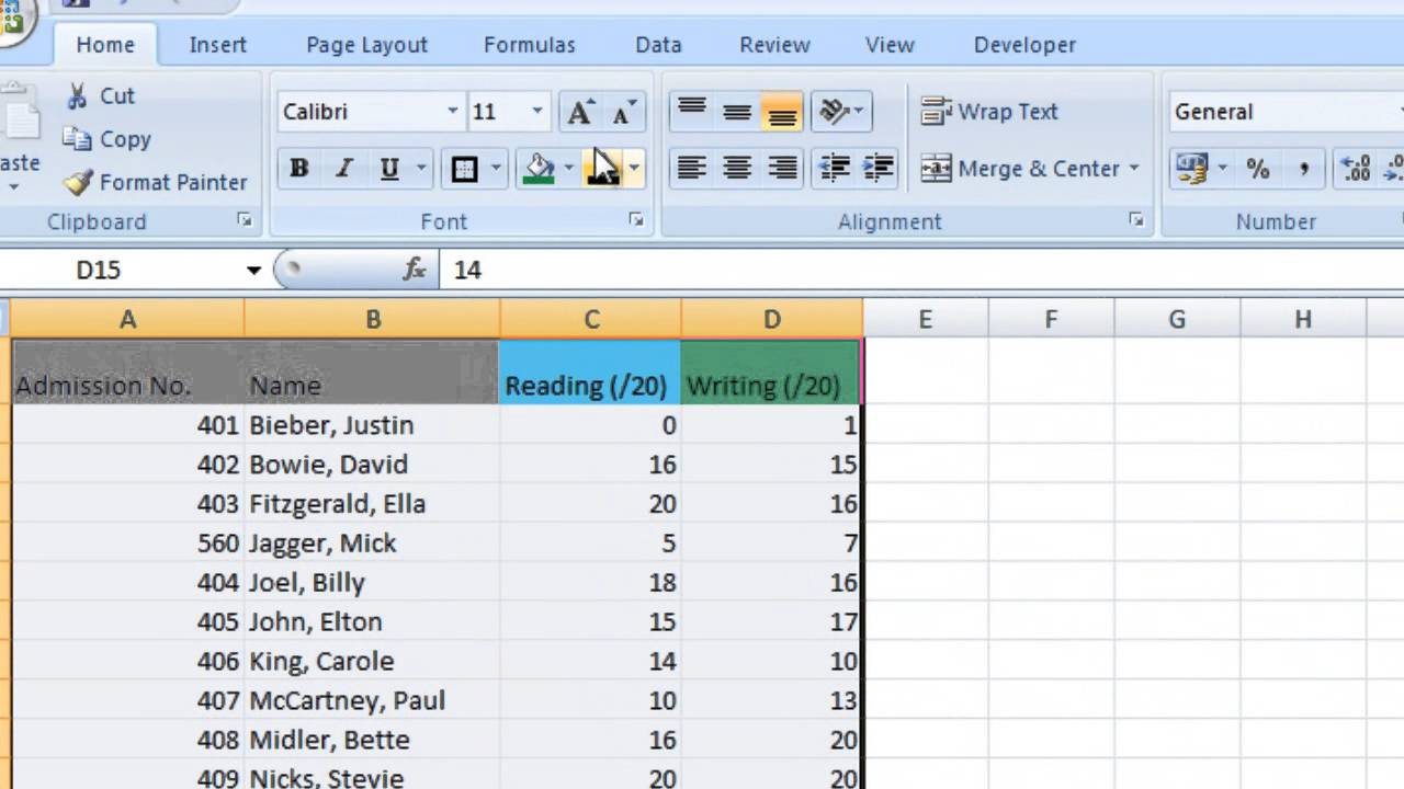 Excel Tips for Teachers Episode 1: Creating a Simple Spreadsheet