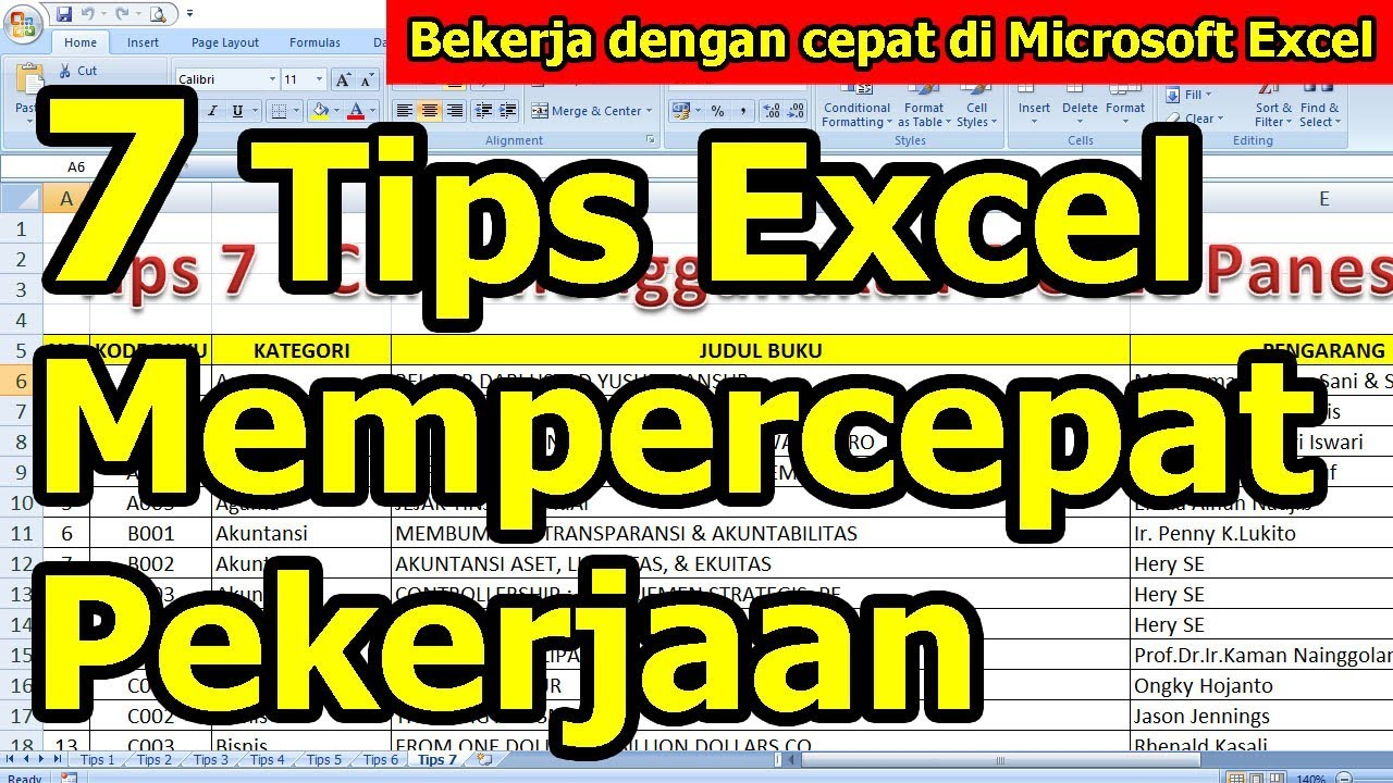 7 Tips Bekerja Dengan Cepat di Microsoft Excel