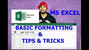 MS EXCEL FULL BASIC FORMATTING TUTORIAL ! MS EXCEL TIPS & TRICKS !