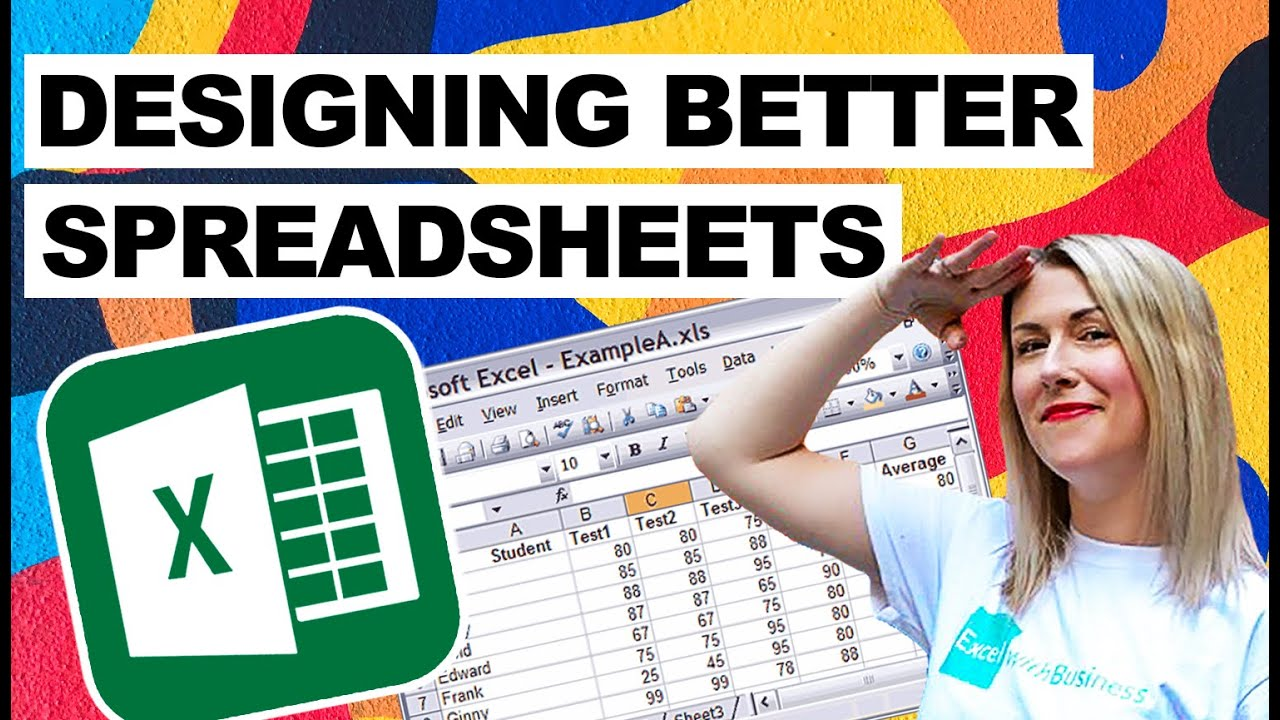 Designing Better Spreadsheets In Excel (Deb's Top Tips and Tricks)