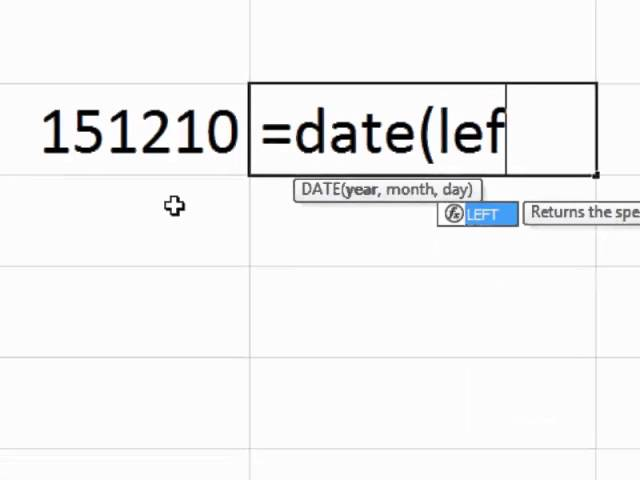 Excel Tips – Converting a Text String to a Date