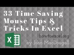 33 Time Saving Mouse Tips & Tricks In Excel