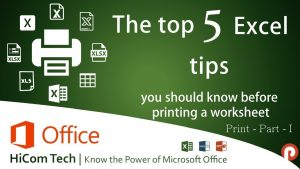 The top 5 Excel tips you should know before printing an excel sheet | Secret in Tamil – Part 1