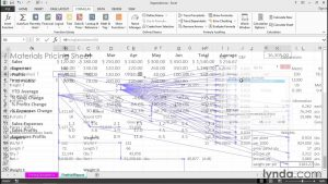 Tracking down cell dependencies across multiple worksheets and workbooks | Excel Tips | lynda.com