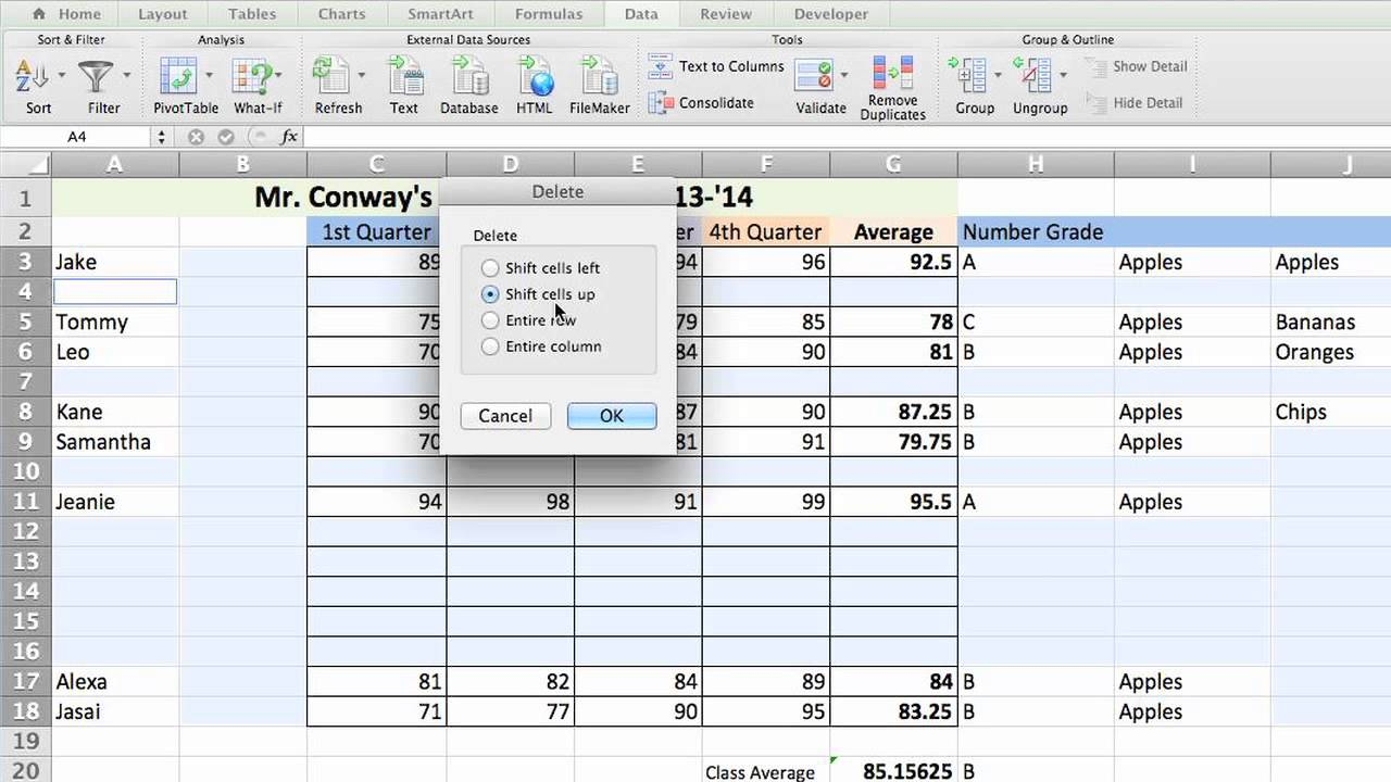 How to Eliminate Blank Cells in an Excel Spreadsheet : Microsoft Excel Tips
