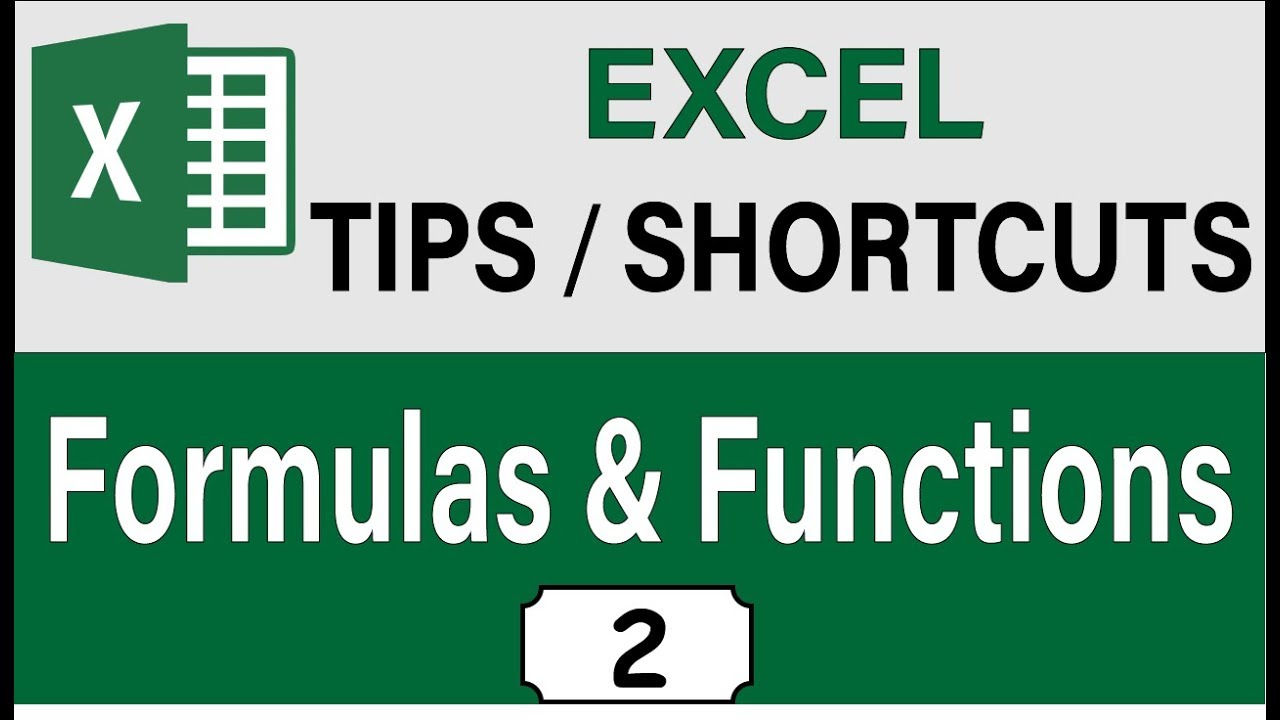 Advanced Excel 2019 Formula & Functions Tips and Shortcuts, Excel 2019 Intermediate Skills