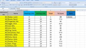Excel Tips for Teachers Episode 3: Ranking results in Excel