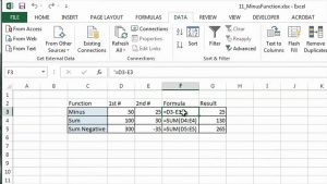How to Use Minus Function in Excel : MS Excel Tips