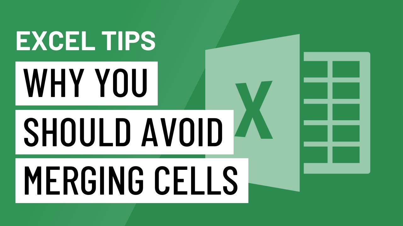 Excel Quick Tip: Why You Should Avoid Merging Cells