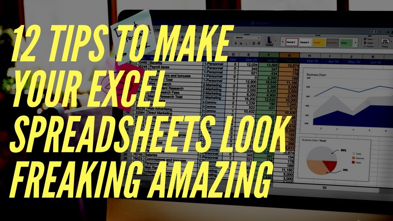 How to Create Professional Looking Excel Spreadsheets