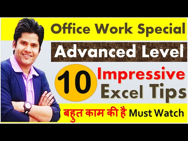 🔥Excel Top 10 Impressive 👉New Advanced Laval Tips For Office Work [ Magical Time Saving Tips ]