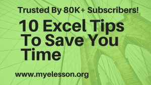 10 Excel Tips ☑️