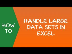 Excel Tip to Handle Large Data Sets