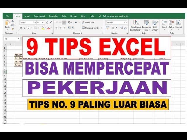 9 Tips Microsoft Excel Yang Bisa Mempercepat Pekerjaan