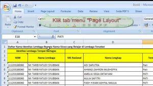 Tips Excel cara membuat judul tabel berulang otomatis di tiap halaman