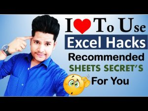 Every excel users must know this Excel Sheet Tips To Make Work Faster and Easier
