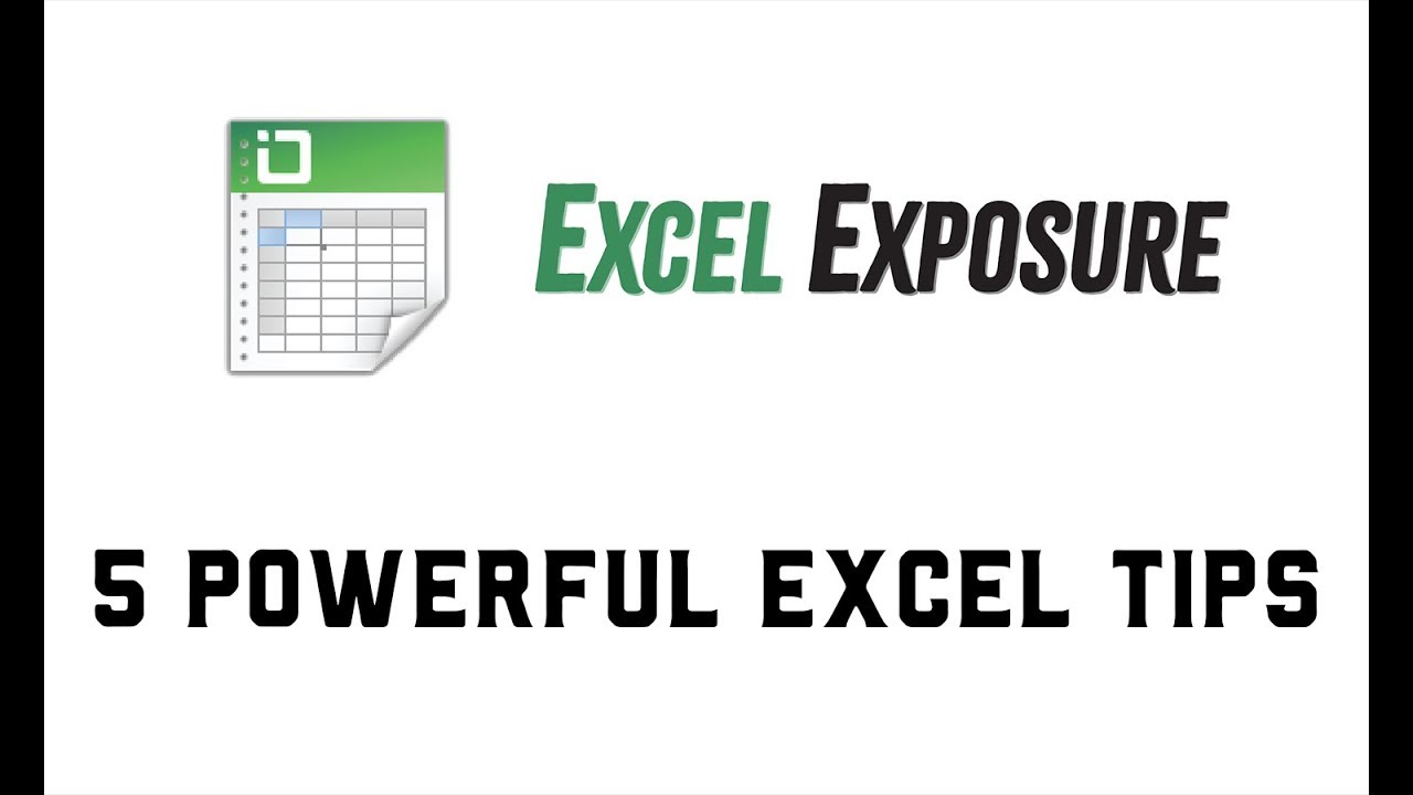 Five Powerful Excel Tips