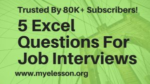 5 Excel Questions Asked in Job Interviews ☑️