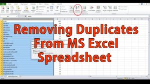How to remove duplicate entries from spreadsheet – Microsoft Excel Tips and Tricks Hindi