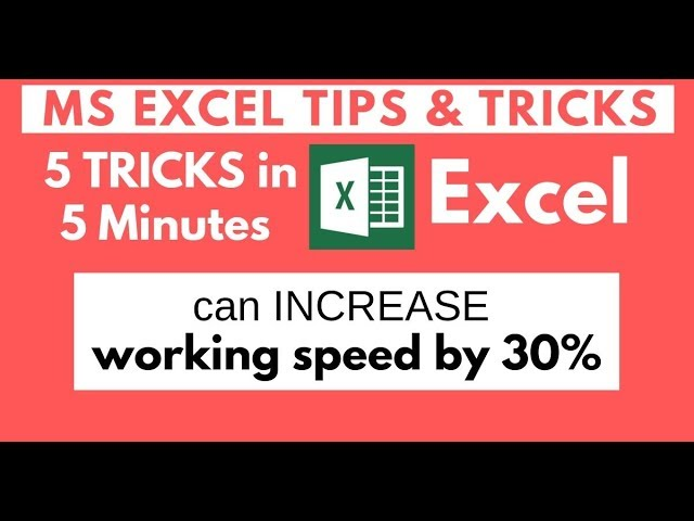 5 Amazing Excel Tips & Tricks for Speed up Work Efficiency | 5 must learn trick excel