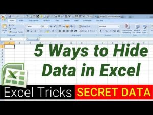 5 Ways to hide data in Excel – Excel Tips and Tricks