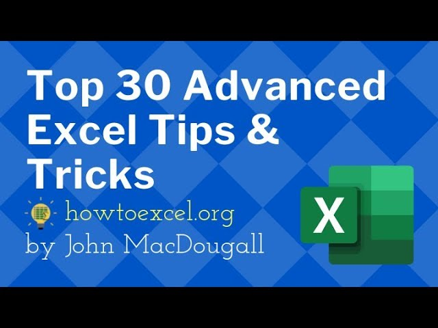 ☑️ Top 30 Advanced Excel Tips and Tricks