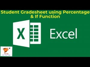 Excel Tips : Preparation of Grade Sheet of Students