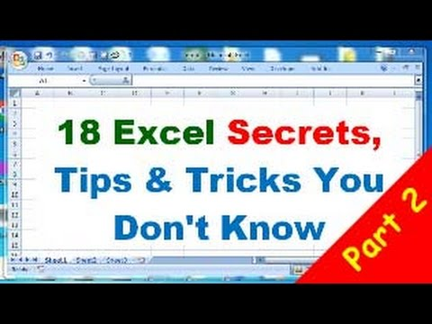 18 Excel Tips and Tricks, Excel Secrets  you don't know part 2