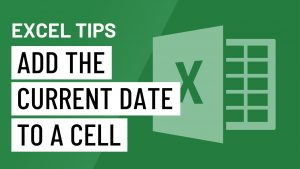 Excel Quick Tip: Add the Current Date to a Cell