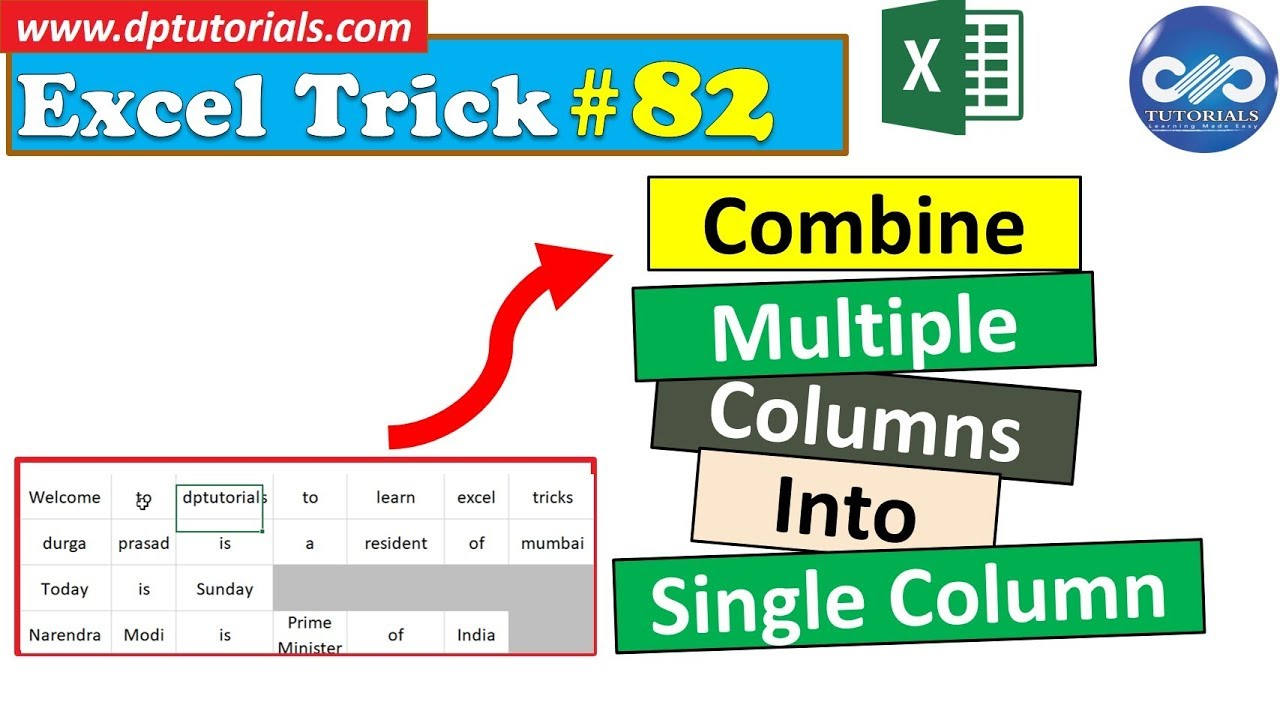 Combining Multiple Columns Into First Column In Excel || Excel Tips & Tricks