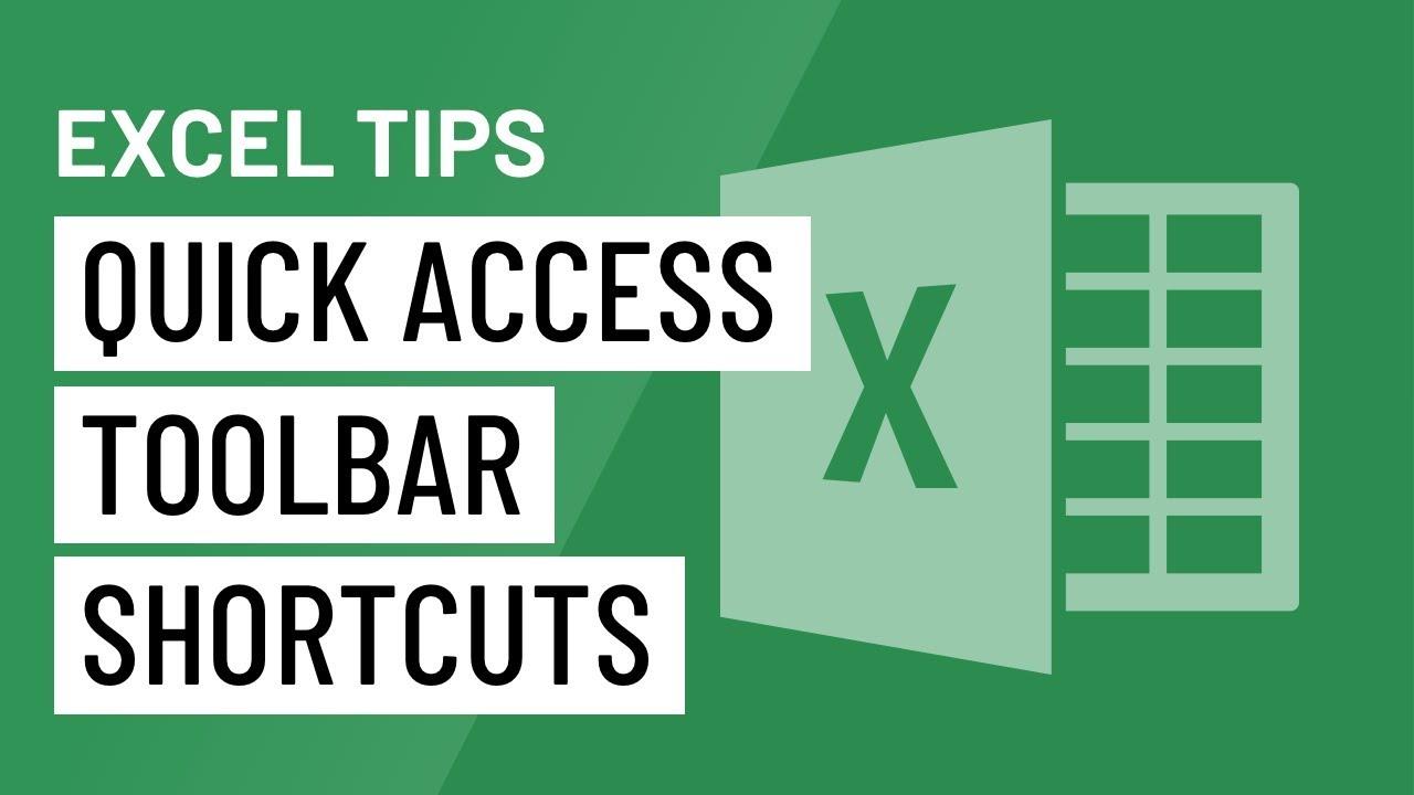 Excel Quick Tip: Quick Access Toolbar Shortcuts