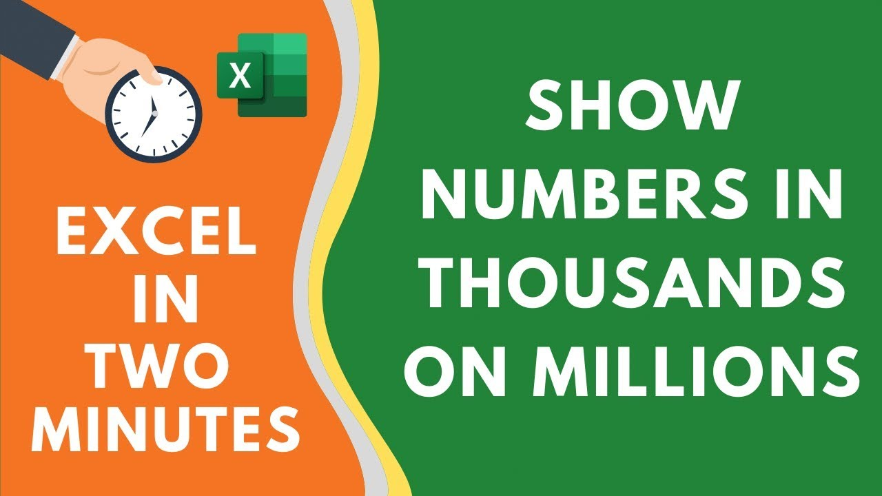 Show Numbers in Thousands or Millions in Excel (really easy way)