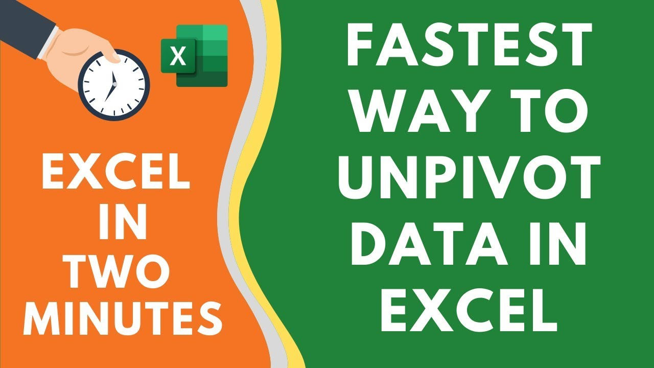 Unpivot Data in Excel Using Power Query (FASTEST way ever)