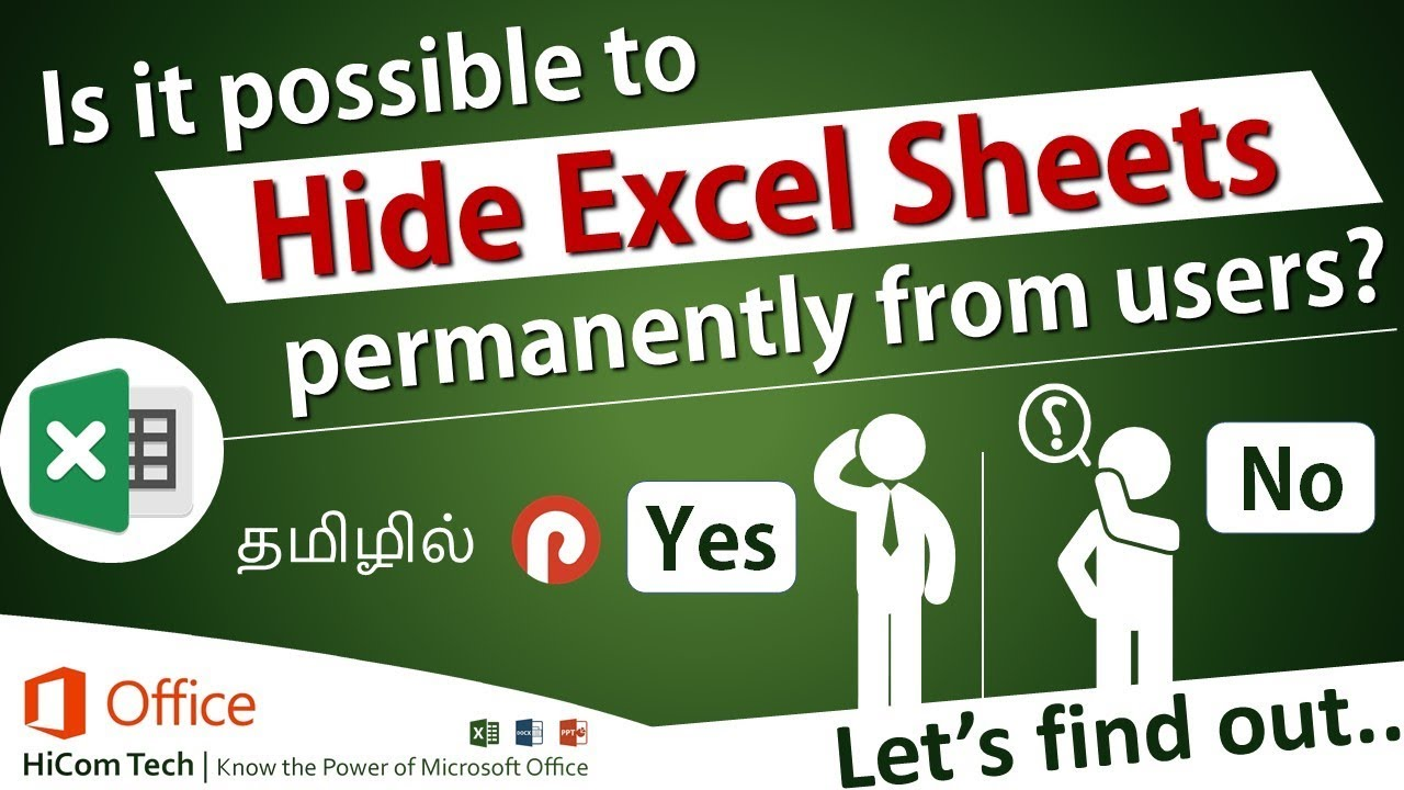 Hide Excel Sheet (Tab) with Password – Advanced Excel Tips and Tricks in Tamil – Prabas MSOffice