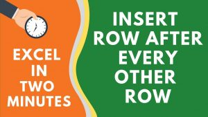 How to Insert a Row After Every Row in Excel (a really simple trick)