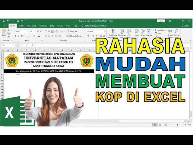 2 Cara Mudah Membuat Kop di Microsoft Excel – Tips Rahasia