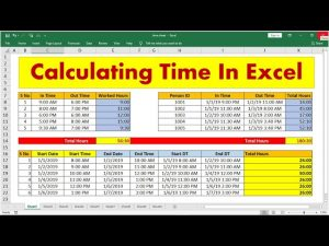 Calculating Time in MS-Excel || Hindi