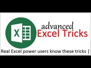 Most Powerfully Advance Exceltips andtricks2019