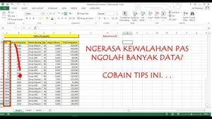 Excel Tips Untuk Mengolah Banyak Data (CTRL dan Shift)