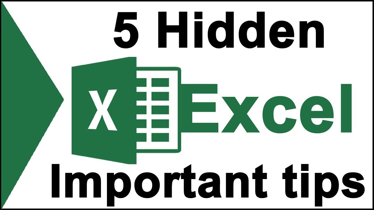 Excel top 5 important tips for beginners students