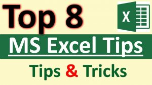 8 Tips & Tricks of Microsoft Excel in Hindi