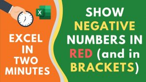 Show Negative Numbers in Red Color (with a Bracket) in Excel