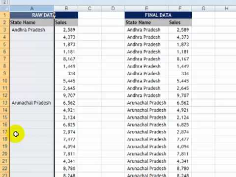 Excel Tips#1: Using Go To (Special)