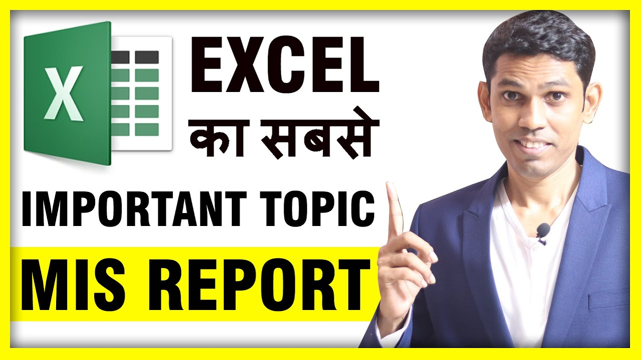 Best way to Impress Boss with Excel MIS Report || Excel MIS Tutorial in Hindi