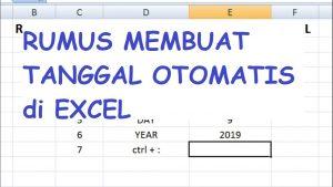 Rumus Membuat Tanggal Otomatis di Excel || Trik dan Tips Excel #geminitube