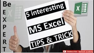 5 most interesting ms excel tips and trick 2019 || MS excel top 5 tips and tricks you must know