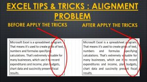How to solve alignment problem in MS Excel | Excel tips & tricks | Excel magical tips & tricks |