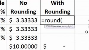 Excel Tips — Where is that penny?  The Round Function